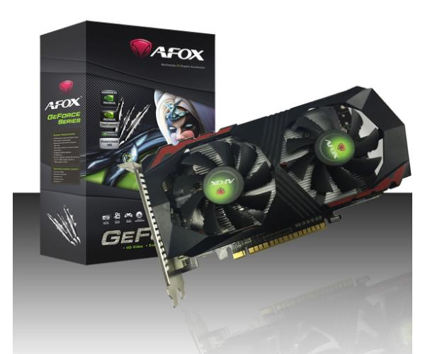 כרטיס מסך AFOX GTX 1050TI 4GB DDR5 DVI HDMI DP DUAL-FAN
