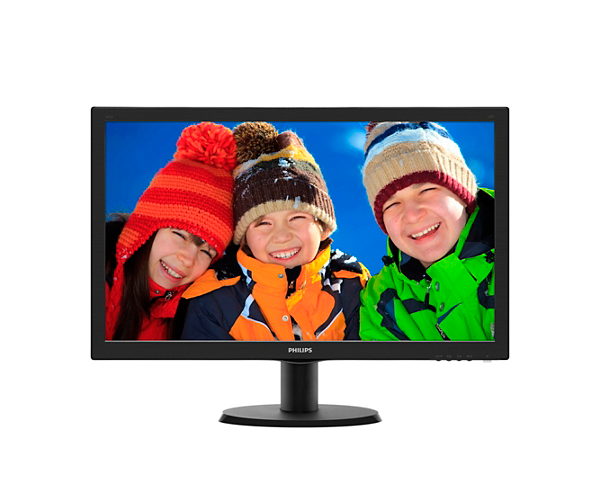 מסך מחשב PHILIPS 243V5LHAB VGA DVI HDMI VESA SPK 1MS 23.6